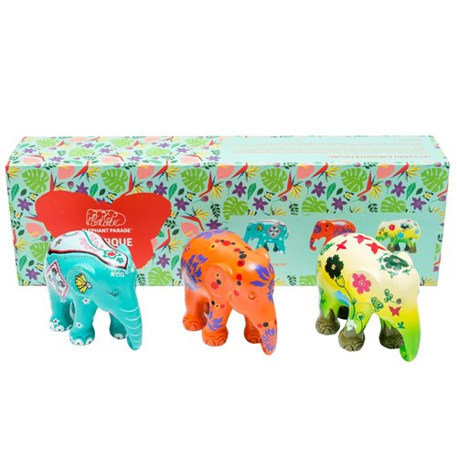 Elephant Parade Exotique - Multipack - Hand-Crafted Elephant Statue - 3x7 cm