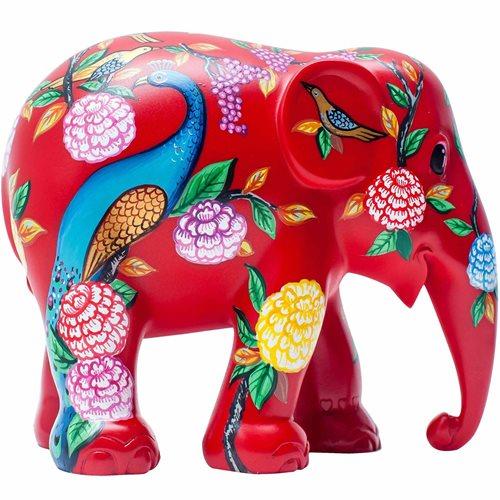 Elephant Parade Peacock Garden - Handgefertigte Elefantenstatue - 15 cm