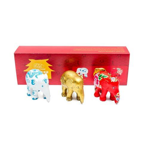 Elephant Parade Fortune - Multipack - Handgemaakt Olifantenstandbeeld - 3x7 cm
