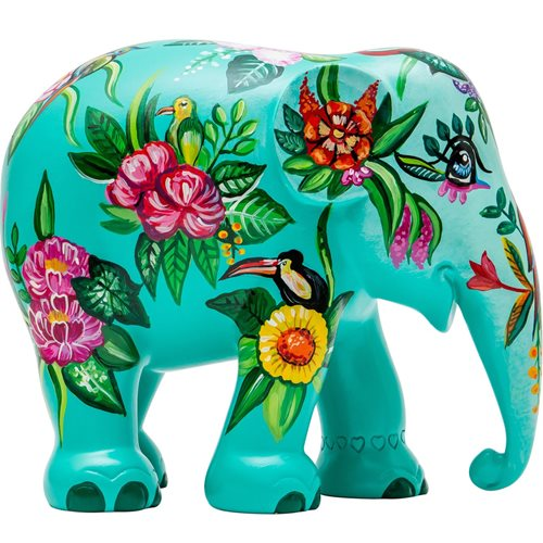 Elephant Parade Tropical Floral - Hand-Crafted Elephant Statue - 15 cm