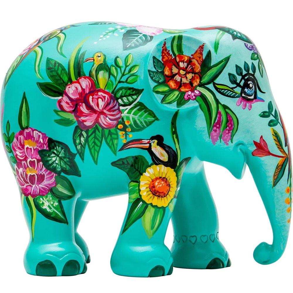 Elephant Parade Tropical Floral - Handgefertigte Elefantenstatue - 15 cm
