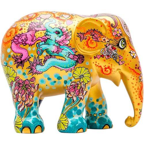 Elephant Parade Stay Gold - Handgemaakt Olifantenstandbeeld - 20 cm