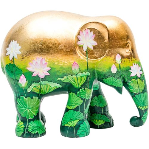 Elephant Parade Golden Lotus - Hand-Crafted Elephant Statue - 10 cm