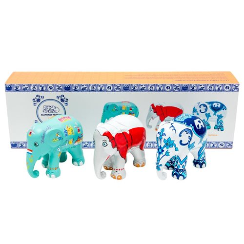Elephant Parade Dutch Stories - Multipack - Hand-Crafted Elephant Statue - 3x7 cm