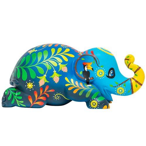 Elephant Parade Forever Love Ellybank - Spaarpot - Handgemaakt Olifantenstandbeeld - 15 cm