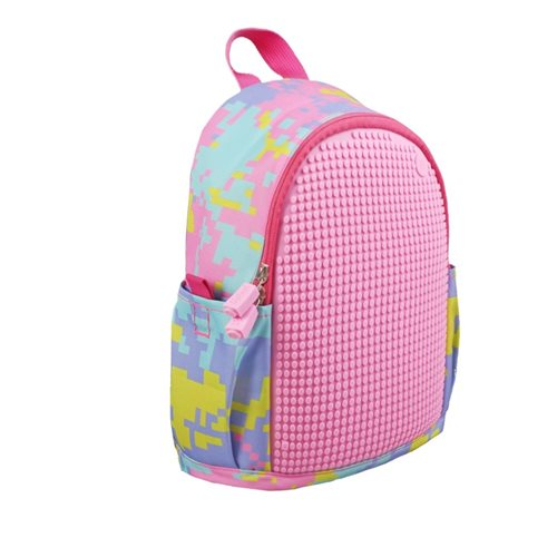 Upixel Dream High - Kids Backpack  - DIY Pixel Art - Pink