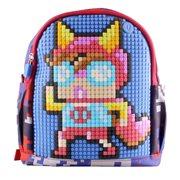 Upixel Dream High - Kinderrugzak  - DIY Pixel Art - Marineblauw