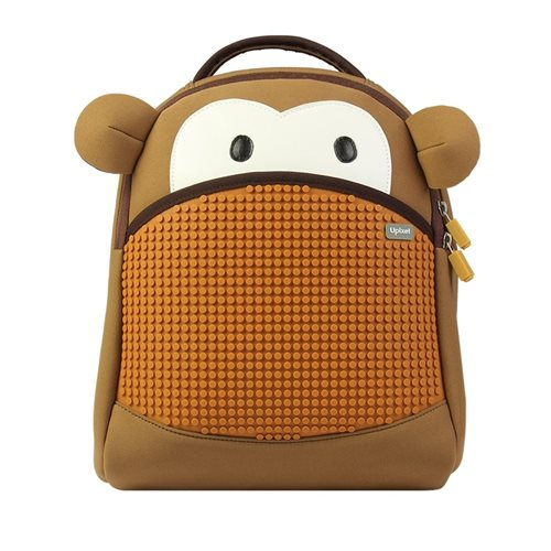 Upixel YoCi Monkey - Kids Backpack - DIY Pixel Art - Brown/Yellow