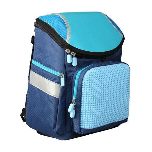 Upixel Super Class School Bag - Kinderrucksack - DIY Pixel Kunst - Navy Blau
