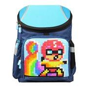 Upixel Super Class School Bag - Kids Backpack - DIY Pixel Art - Navy Blue