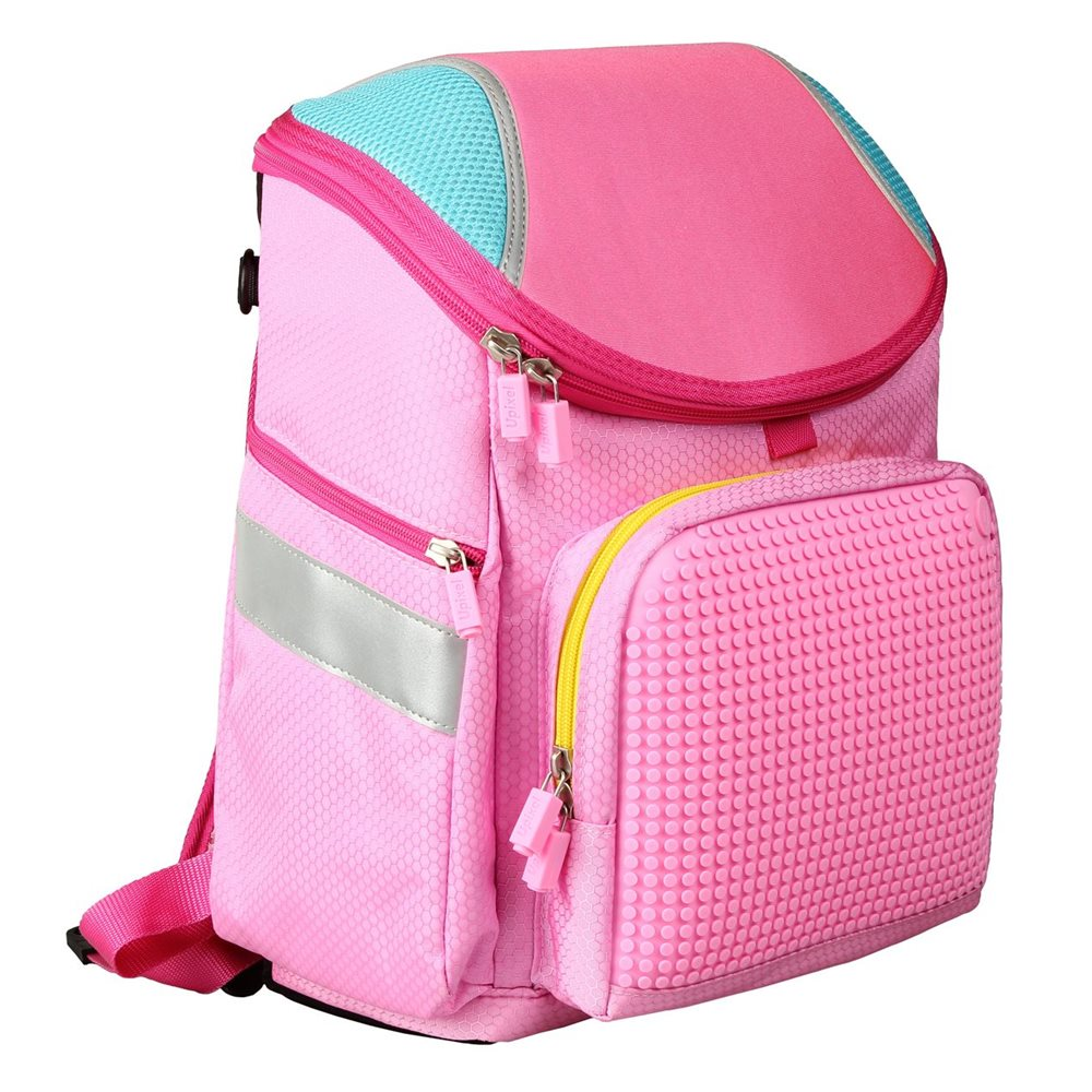 Upixel Super Class School Bag - Kids Backpack - DIY Pixel Art - Bubblegum Pink