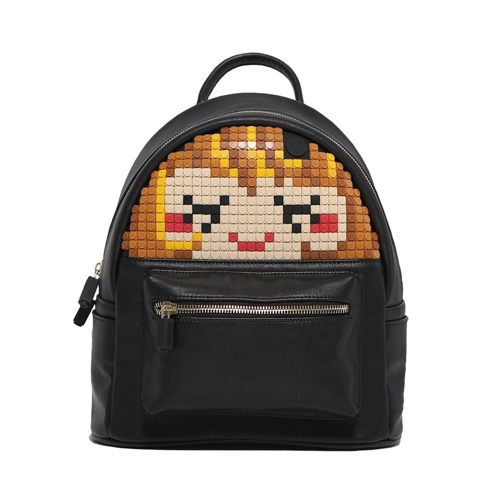 Upixel Face Off - Backpack - DIY Pixel Art - Black