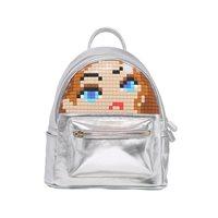 Upixel Face Off - Backpack - DIY Pixel Art - Silver