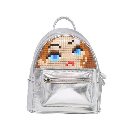 Upixel Face Off - Backpack - DIY Pixel Art - Silver