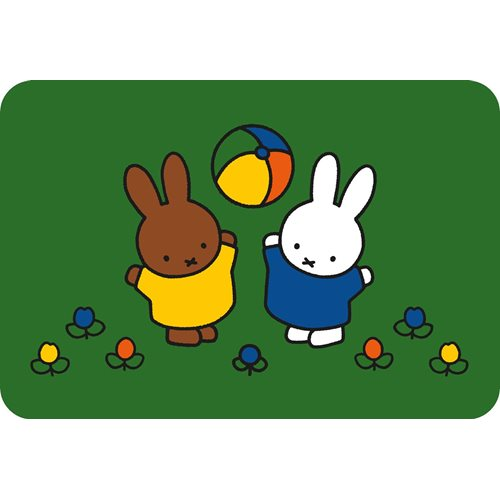 Kreisy Miffy Play - Play mat Velours 60x40 cm - Green