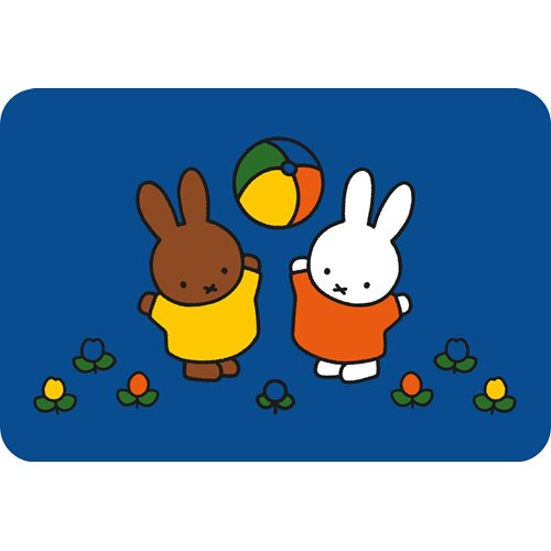 Kreisy Miffy Play - Spielmatte Velours 60x40 cm - Blau
