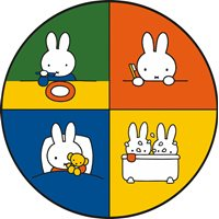 Kreisy Miffy Education - Play mat Velours 60x60 cm - Round