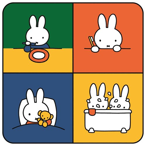 Kreisy Miffy Education - Spielmatte Velours 60x60 cm - Quadratisch