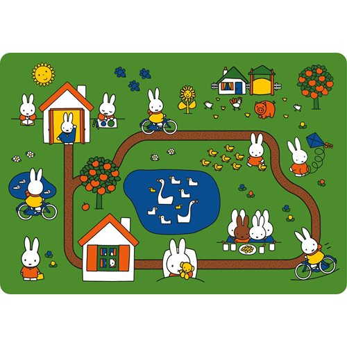 Kreisy Miffy Day of Miffy - Play mat Velours 130x90 cm - Green