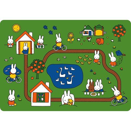 Kreisy Miffy Day of Miffy/Tag mit Miffy - Spielmatte Velours 130x90 cm - Grün