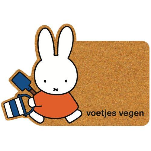 Kreisy Miffy Voetjes Vegen/Füße fegen - Fußmatte 80x55 cm - Braun