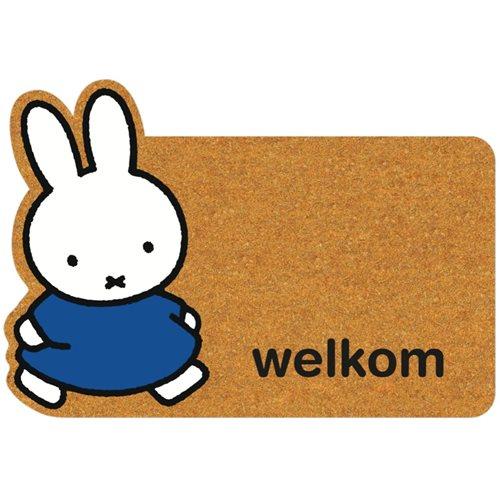 Kreisy Miffy Welkom/Willkommen - Fußmatte 80x55 cm - Braun