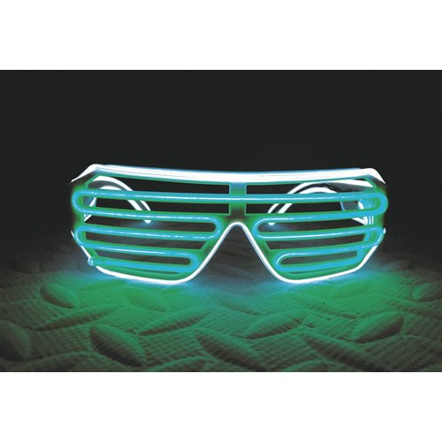 IA Green and White LED Light Up Glasses