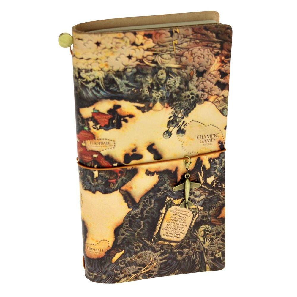 United Entertainment Leather Notebook World Edition