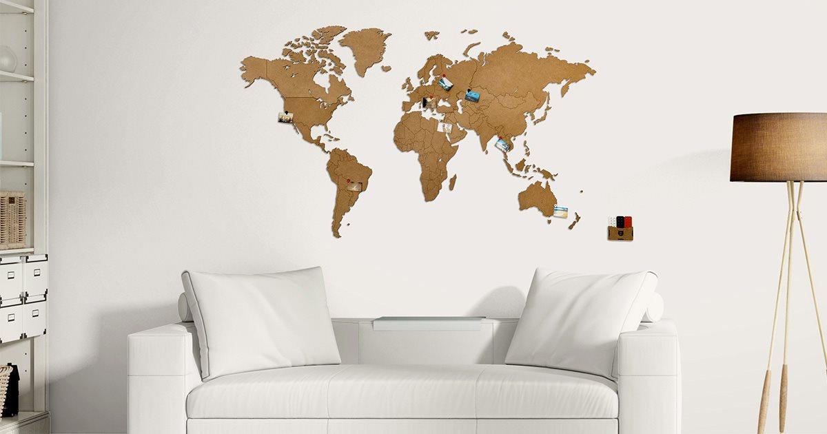 Mimi Innovations Wooden World Map Design Studio World Map Puzzle