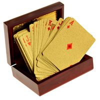 United Entertainment Golden Playing Cards with Luxury Box