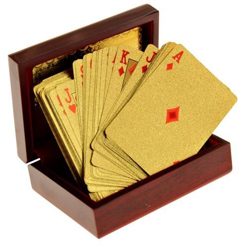 United Entertainment Goldene Spielkarten mit Luxusbox