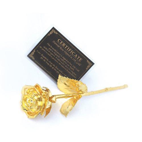 United Entertainment Goldene Rose in Luxus Lederbox