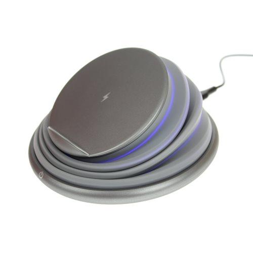 United Entertainment Draadloze Oplader – Met LED sfeerverlichting - Kleur veranderend - Grijs