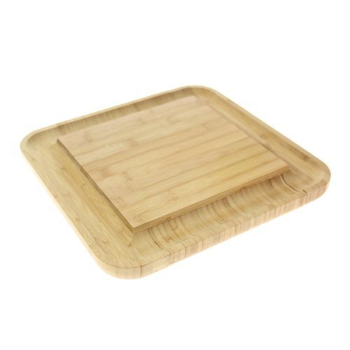 United Entertainment Serving board - Including 4 cheese knives - Bamboo