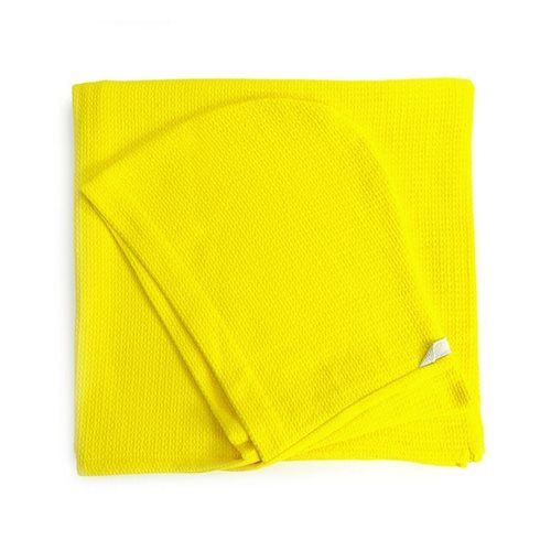 Ekobo Baño Kids Hooded Towel 100% Organic Cotton - 140x70 cm - Lemon
