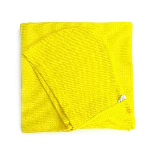 Ekobo Baño Kinder Kapuzenhandtuch 100% Organisch Baumwolle - 140x70 cm - Lemon