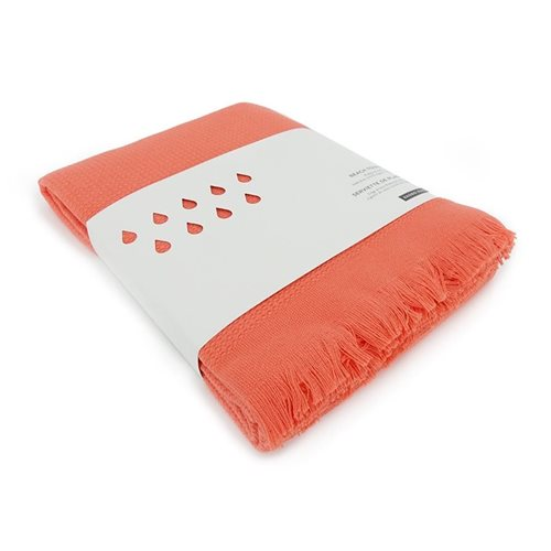 Ekobo GO Beach Towel 100% Organic Cotton - 200x100 cm - Coral