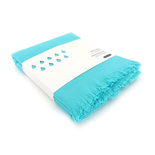 Ekobo GO Beach Towel 100% Organic Cotton - 200x100 cm - Lagoon