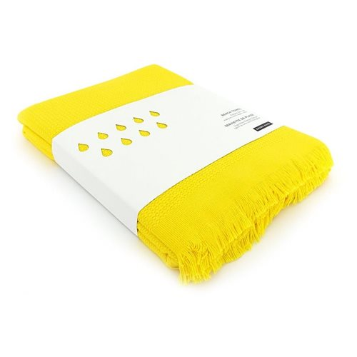 Ekobo GO Beach Towel 100% Organic Cotton - 200x100 cm - Lemon