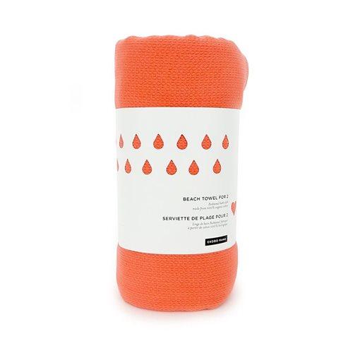 Ekobo GO Strandtuch für 2 - 100% Organisch Baumwolle - 200x200 cm - Koralle