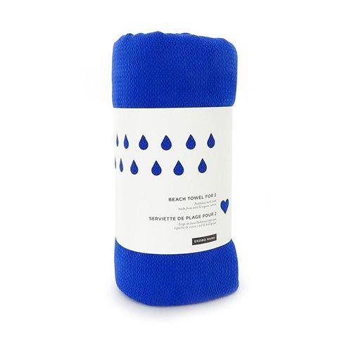 Ekobo GO Strandtuch für 2 - 100% Organisch Baumwolle - 200x200 cm - Royal Blue