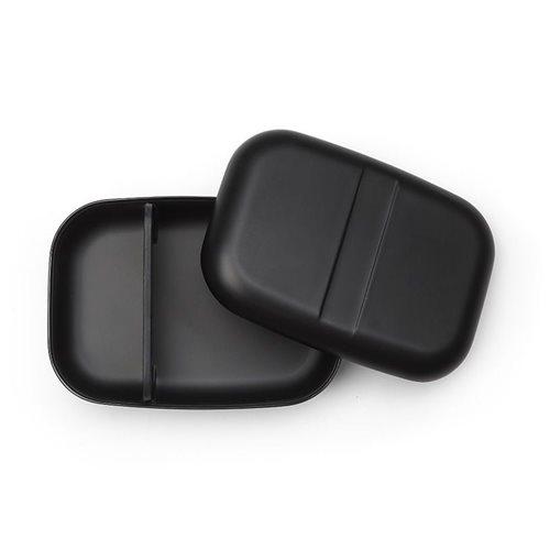 Ekobo GO Bento Lunchbox Bamboo Fiber Rectangular - 19x14x6.5 cm - Black