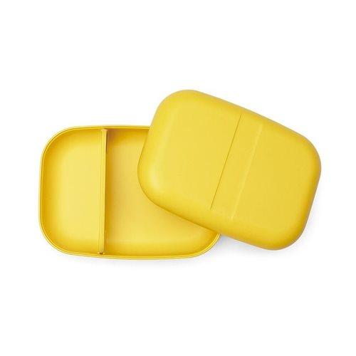 Ekobo GO Bento Lunchbox Bambusfaser Rechteckig - 19x14x6.5 cm - Lemon