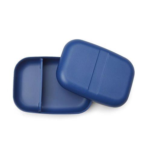 Ekobo GO Bento Lunchbox Bambusfaser Rechteckig - 19x14x6.5 cm - Royal Blue