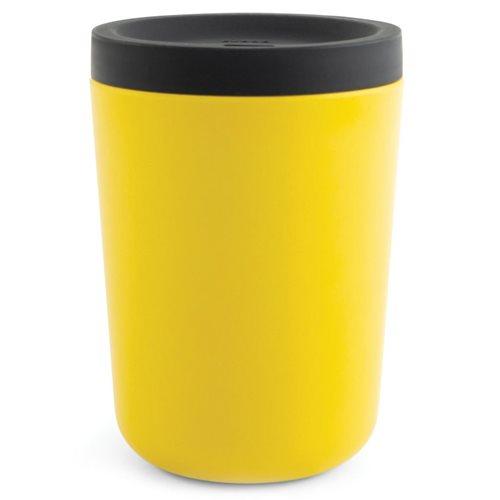 Ekobo GO Wiederverwendbarer Mitnehmerbecher Bambusfaser 350 ml - 11x8x8 cm - Lemon