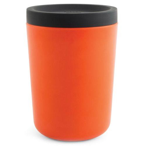 Ekobo GO Wiederverwendbarer Mitnehmerbecher Bambusfaser 350 ml - 11x8x8 cm - Persimmon