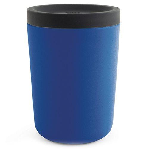 Ekobo GO Wiederverwendbarer Mitnehmerbecher Bambusfaser 350 ml - 11x8x8 cm - Royal Blue
