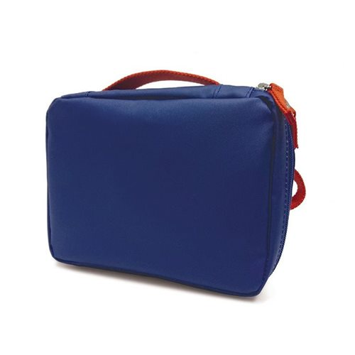 Ekobo GO Recycled PET Lunch Bag - 20x15x7 cm - Royal Blue/Persimmon