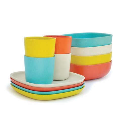 Ekobo Gusto 12-Piece Breakfast Set Bamboo Fiber FRESH - 4 colours