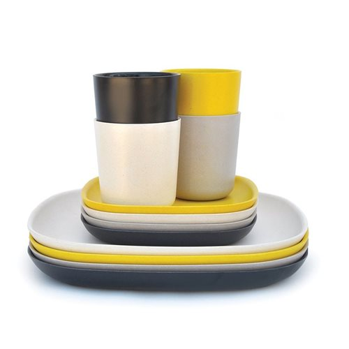 Ekobo Gusto 12-Piece Lunch Set Bamboo Fiber CHIC - 4 colours